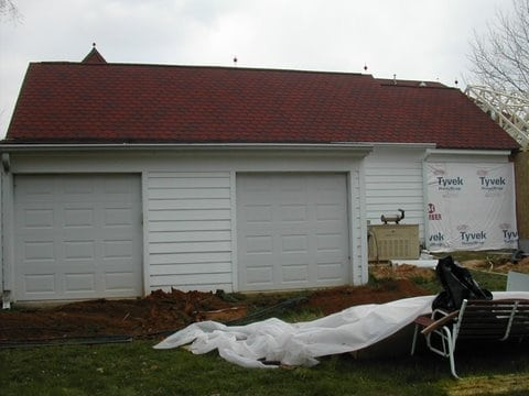 Detached two car garage addition before