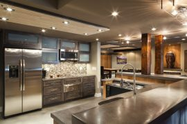 chrysalis award winner owings brothers contracting cement counter basement bar