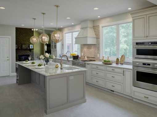 bright and clean kitchen with neutral color
