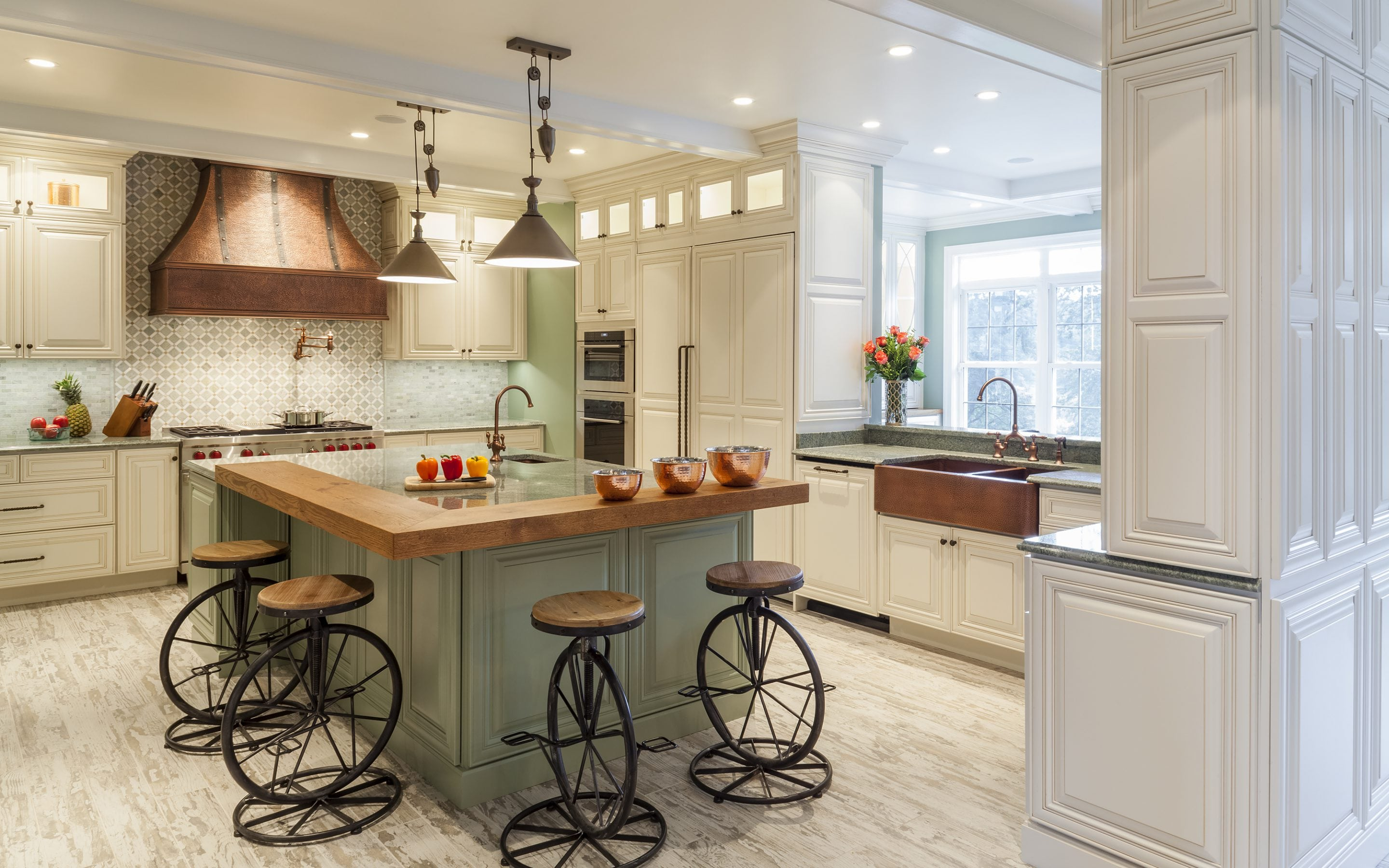 rustic kitchen design with island bar
