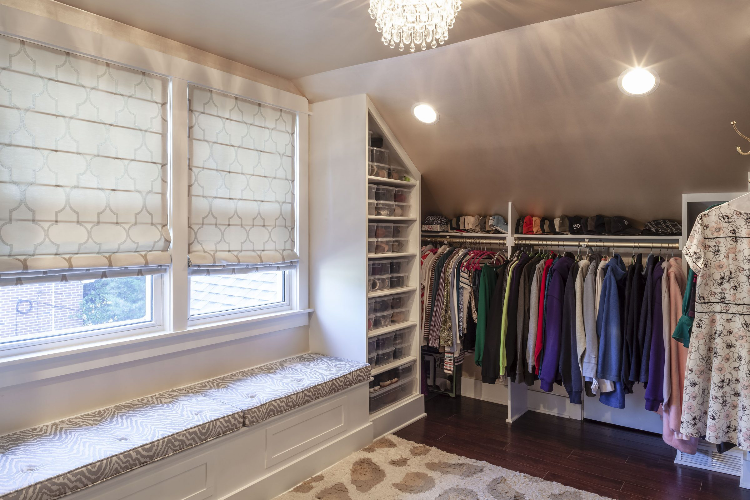 large master closet in attic to master bedroom conversion