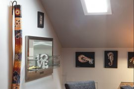 attic master suite conversion with fire element