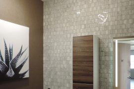 LED semi-flush lighting and mirror lighting for bathroom
