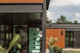 mid century modern home entrance