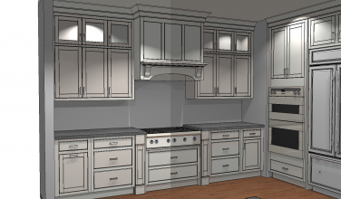 Perimeter 3D drawings for kitchen