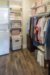 walk-in closet with laundry inlaw apartment