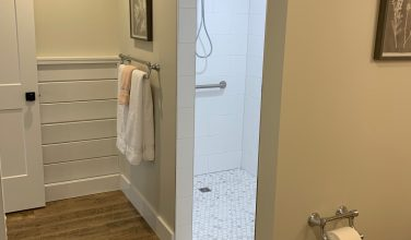 curbless walk-in shower for accessible living